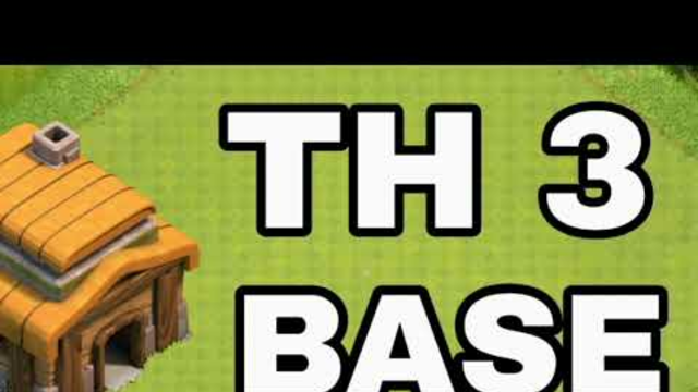 Town Hall 3 Base Clash of Clans ! Th3 War and Trophy Base ! Coc Th3