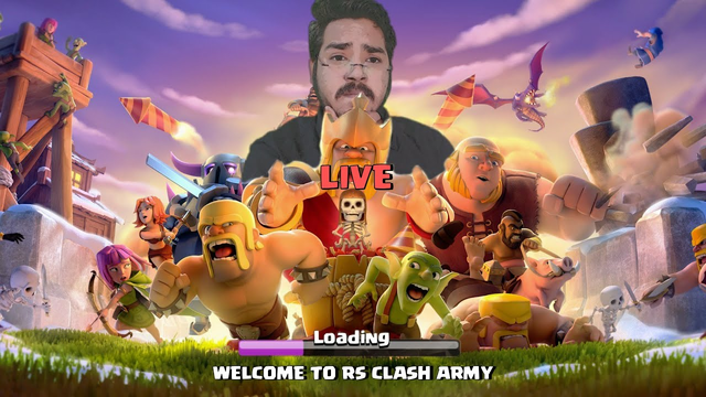 Live CWL and Trojan Wars Clash of Clans  - COC