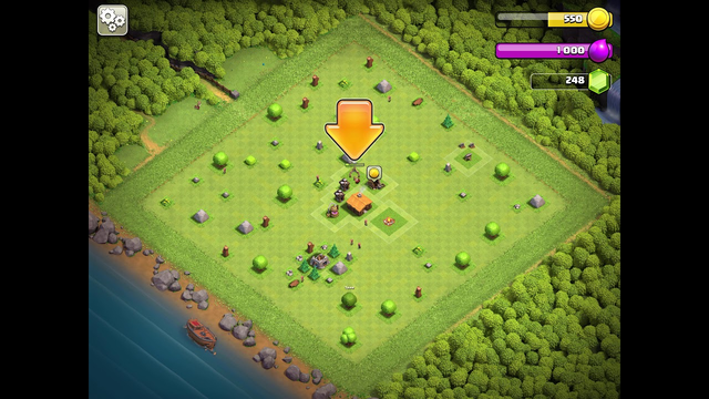 1 min 24 sec clash of clans 100% town hall 2