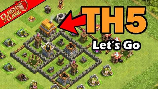 First Day Of Town Hall 5! Clash of Clans