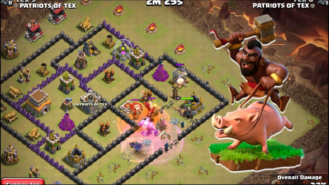 How to Attack at Townhall 8 Using GOHO - Clash of Clans