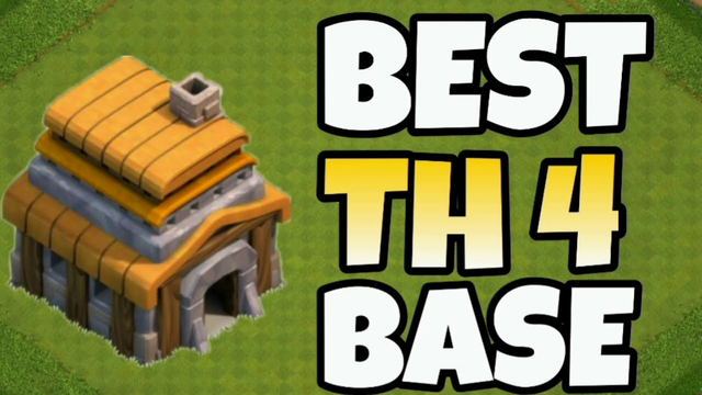 Best TH4 Base ! New Town Hall 4 War Base ! Clash of Clans Th4 Base