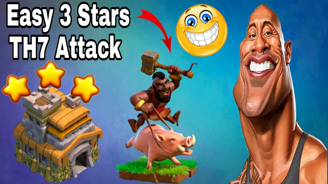 The Best Town Hall 7 Attack Strategy (TH7 Attack Strategy) | clash of clans #Shorts