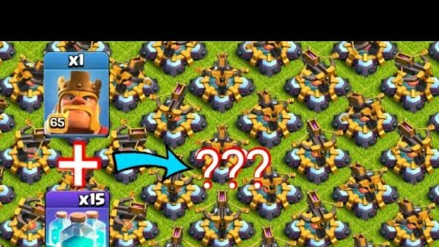 Coc Unstoppable Attack With 1 Max King | Clash Of Clans