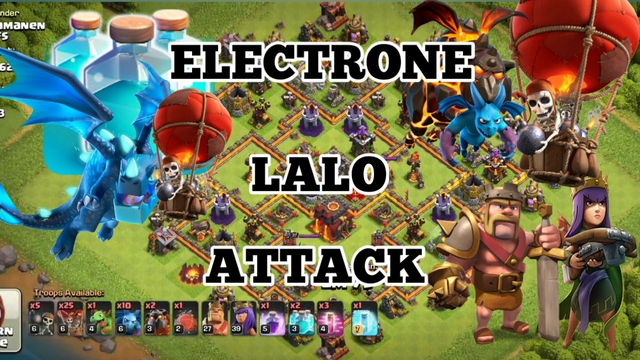 TH10 ELECTRO LALO ATTACK | Clash of Clans