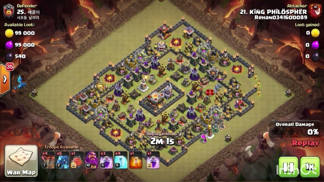 Coc Dragons Attack crushed th10 th11
