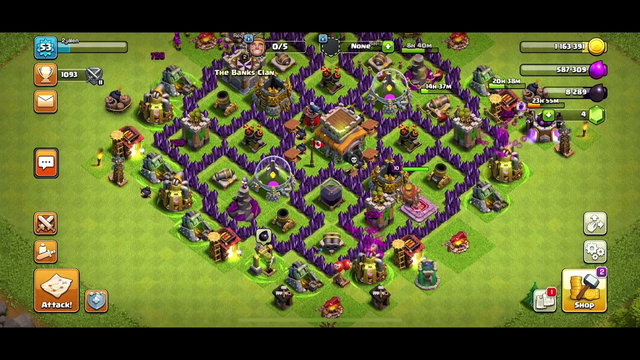 Doing some attacks and I got town hall 8 [clash-of-clans]