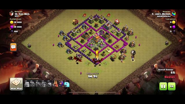 Clash of clans imagine failing a th7 when ur a th9