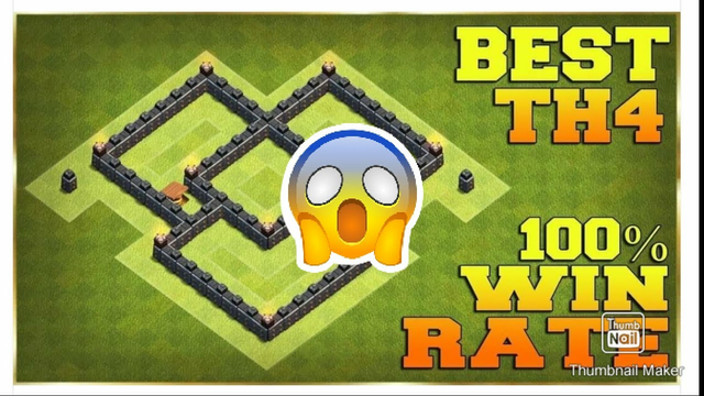 CLASH OF CLANS TOWN HALL TH4 DEFENSE || COC BEST BASE 2021