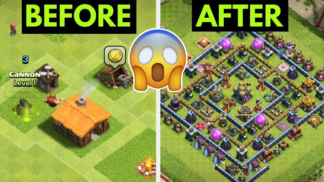 Town Hall 1 To Max Town Hall 14 in 30 minutes ! | Clash Of Clans Speedrun !