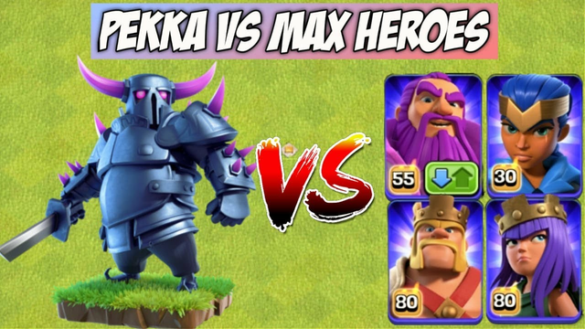 Max Level Heroes Vs Max Level P.E.K.K.A Vs Pets On Coc | Clash Of Clans |