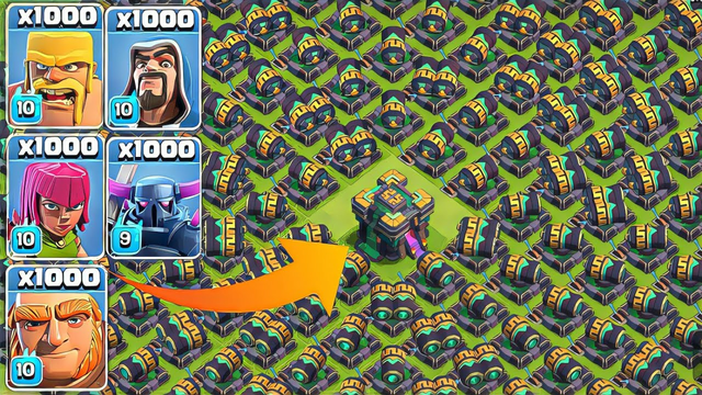 Every Max Level Troops vs Cannon | Max Town Hall 14 in COC |