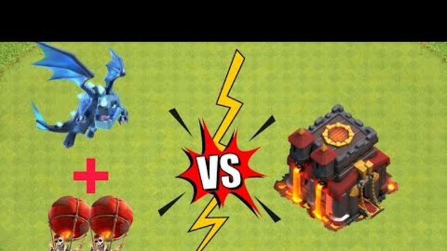 th 10 vs electro dragon full attack clash of clans   #coc