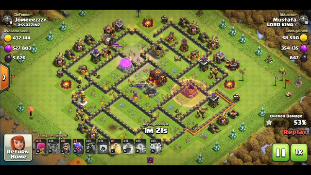 TH 10 Lava Loon With Loot | Th 10 | Clash Of Clans | Best attack on th 10