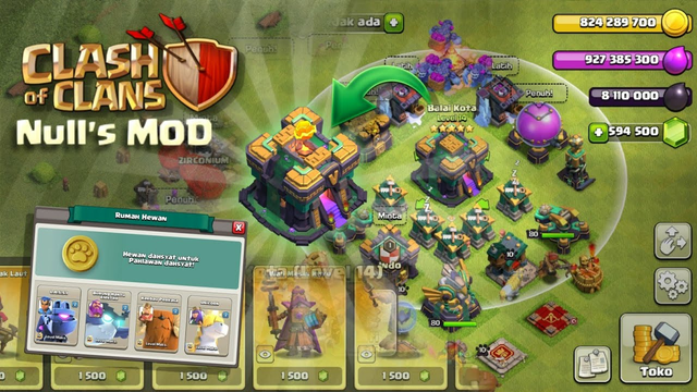 NEW UPDATE!!, Clash Of Clans MOD v14.0.6: Null's MOD Private Server TH 14
