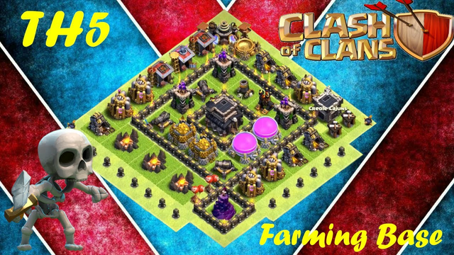 Best Farming Base (TH5) Clash of Clans (2021) with BASE LINK