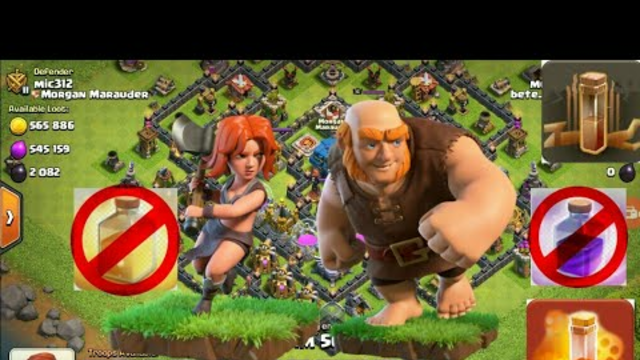 ATTACKING WITHOUT RAGE AND healing spell| clash of clans 2021