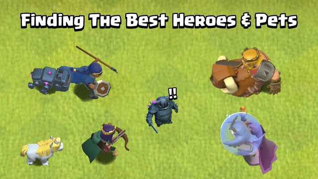 Every Level Heroes & Pets VS  Every Level P.E.K.K.A   Clash of Clans