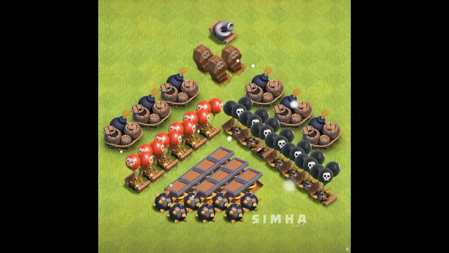 Coc Maxing All Traps Time lapse Clash of clans #Shorts