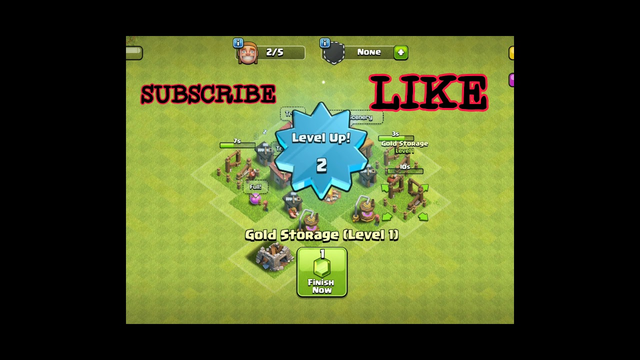 CLASH OF CLANS || upgrading townhall 1 to 2 ... #thewarman #coc