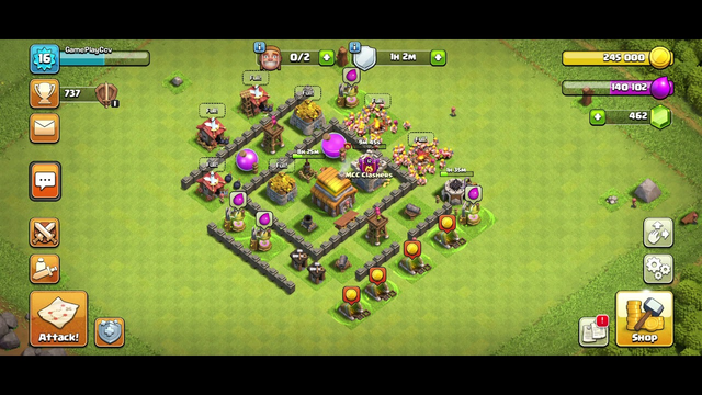 Clash of Clans Ep. 04 TH4 | Farming of base - [ 20:18sec]