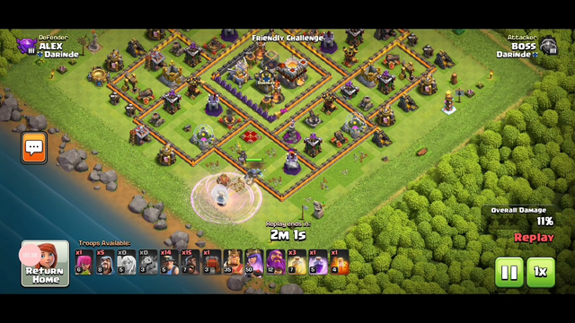 HYBRID ATTACK QUEEN CHARGE | AT GAMING 360 |DARINDE | CLASH OF CLANS