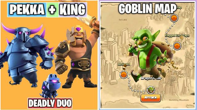 P.E.K.K.A + Barbarian King Vs Goblin Map | Goblin Map WALKTHROUGH | Clash of clans