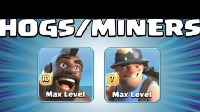 Th 13 max Clash of Clans #Hybrid_Attack 3 stars Miners and Hogriders #without_donation