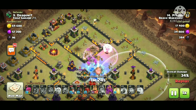 My epic CWL attack #1.....clash of clans.....coc