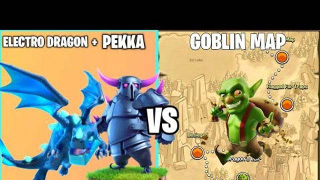 x2 P.E.K.K.A + Electro Dragon Vs Goblin Map On Coc | TH 14 | Clash Of Clans |