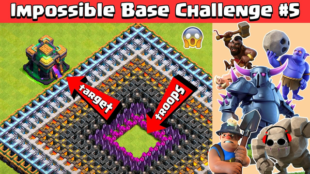 TOWN HALL 14 GIGA INFERNO IMPOSSIBLE BASE CHALLENGE #5 | CLASH OF CLANS