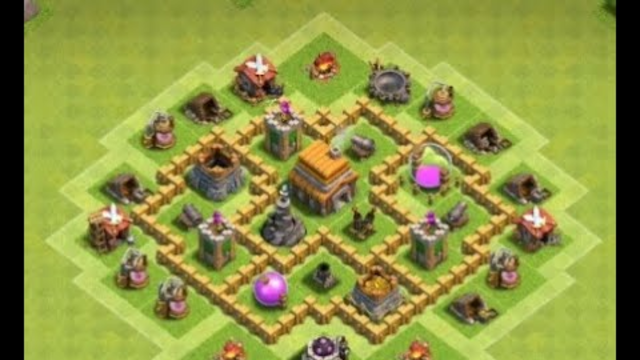 Town hall 5 hybrid base clash of clans