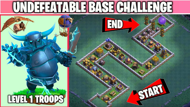 Undefeatable Snake Base Challenge | Every Defense Vs Every Troop | Clash of clans Challenge