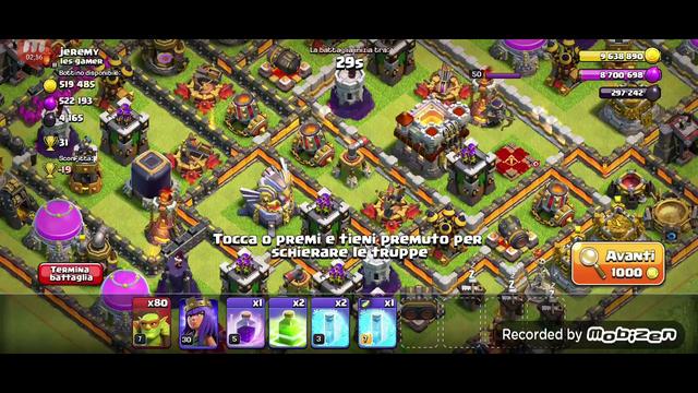 Attacco con super goblin-Clash of clans