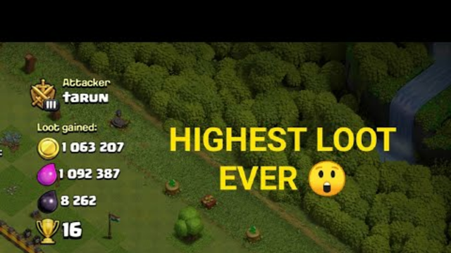 HIGHEST LOOTS POSSIBLE IN CLASH OF CLANS ll BEST LEAGUE FOR FARMING ll #clashofclans #coc #supercell