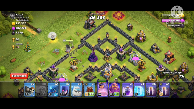 CLASH OF CLANS/ TH11 VS 11  BEST GROUND ATTACK