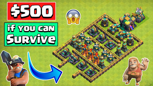 IMPOSSIBLE Town Hall 14 Defense Formation | Clash of Clans