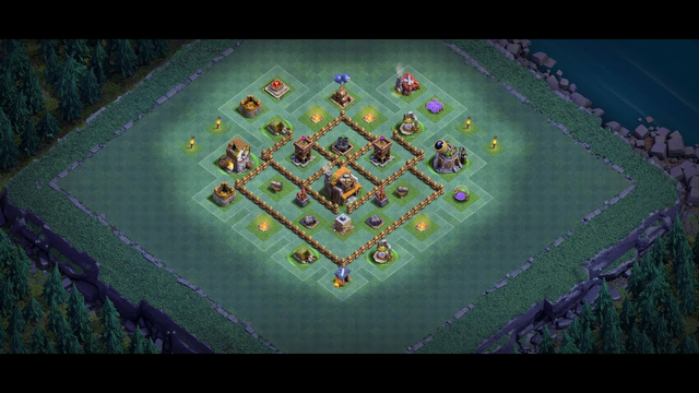 Clash of Clans | Trophy Base Defense: Replay (Builder Hall)