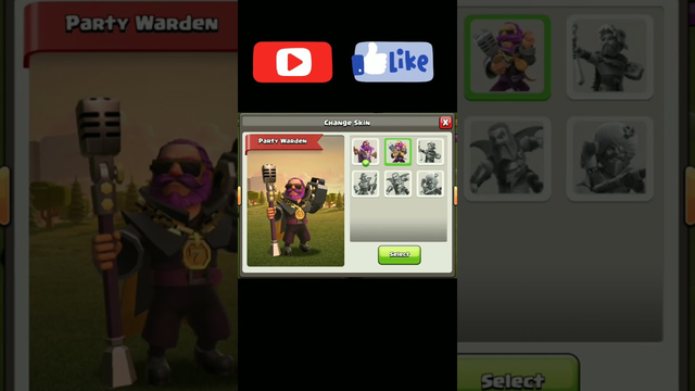 Grand Warden VS All his Skins # Clash of Clans #short