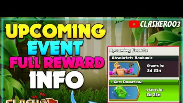 Clash of Clans Upcoming Event Rewards Information | Absolutely Barbaric and 1 Gem Donation Rewards