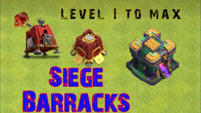 Siege Barracks lv-1 to max / Clash of clans / TH-14  #COC #Shorts #ENOM