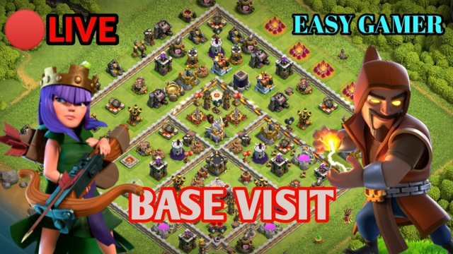 Goldpass giveaway,Base visit And Stumble Guys Clash Of Clans live stream