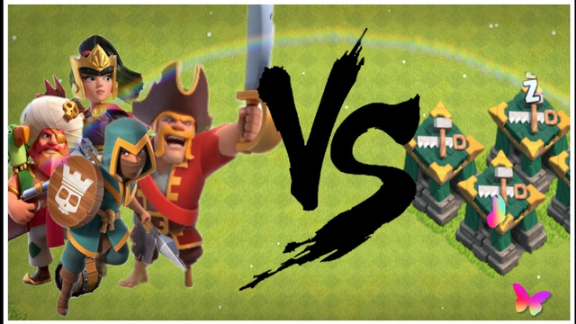 Battle Builders Vs All Heroes  |  Clash of Clans