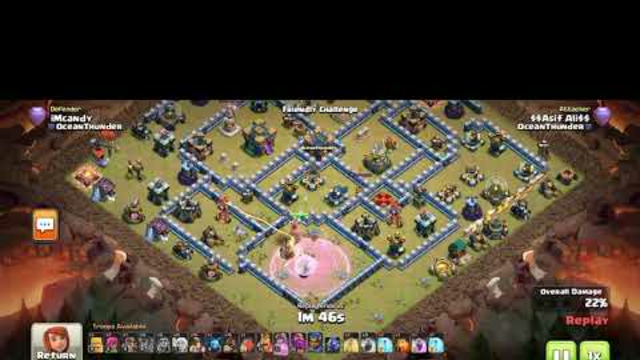 Clash of clans #TH14 demolished By Hiberd attack #Coc 2021 # Best strategy