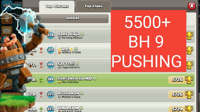 BH 9 5500+ ATTACK STRATEGY || HOW TO PUSH 5500+ || CLASH OF CLANS || SURYA COC YT