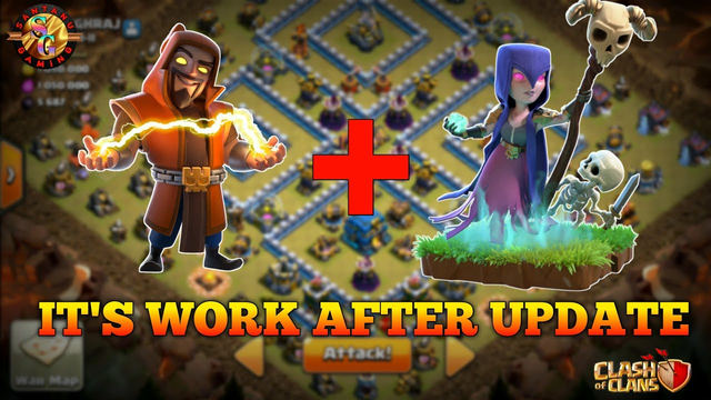 Golem,Super Wizard & Witch attack Strategy in ....clash of clans