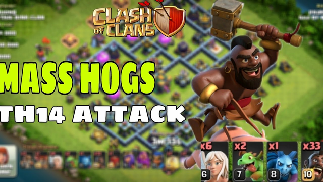 MOST POWER FULL ARMY OF COC | TH14 ATTACK