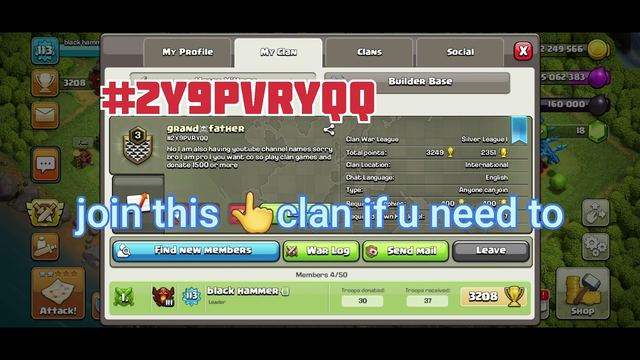 clash of clans who need clan join this