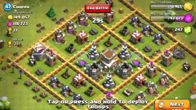 Clash of Clans: Using P.E.K.K.A and Dragons!