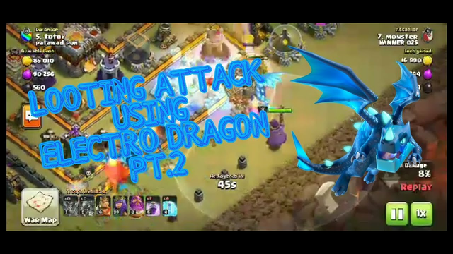 CLASH OF CLANS || LOOTING ATTACK USING ELECTRO DRAGON  PT. 2